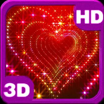 Love Hearts Glitter Sparkle 3d glitter heart live