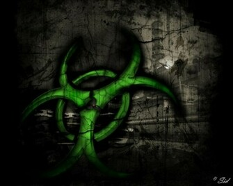 Bio Hazard Symbol Blue Wallpaper Mobile Wallpapers Mobile