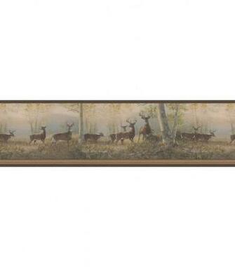 Running Brown Deer Wallpaper Border Jo Ann