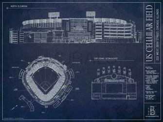 US Cellular Field Blueprint Mural Wallpaper Murals Your Way