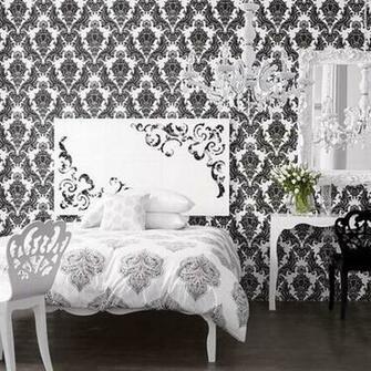 Fresh Decor Black And White Wallpaper Decor For Stylish Room