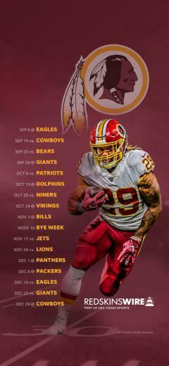 2019 Washington Redskins Schedule Downloadable Wallpaper