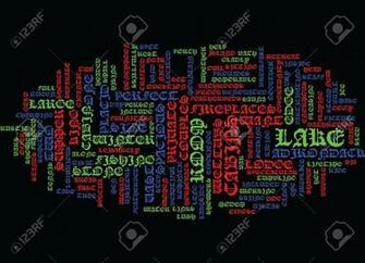 LAKE PLACID LODGE Text Background Word Cloud Concept Royalty