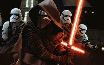 Name Kylo Ren and First Order Stormtroopers Retina Wallpapers