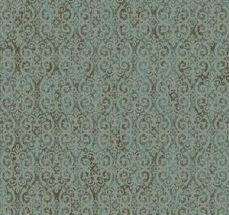 Taupe Scrolling Trellis on Metallic Silver by WallpaperYourWorld