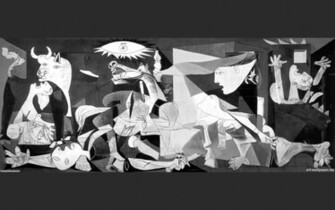 Guernica Wallpaper Art Painting Wall Art Pablo Picasso Wallpaper