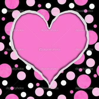 depositphotos 21299529 Pink and Black Polka Dot Torn Background for