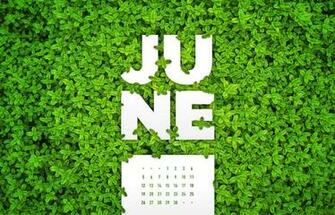 June 2016 Desktop Calendar Wallpaper Paper Leaf