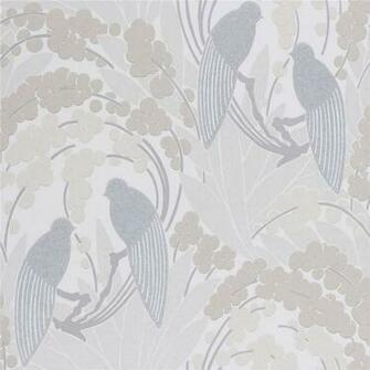 Beige Grey   60123   Love Birds   Harlequin Boutique Wallpaper