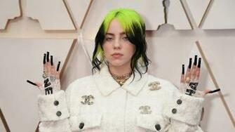 Oscars 2020 Billie Eilish Wears All Chanel and Black Jeweled Nail
