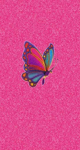 Pink Glitter Colorful Butterfly iPhone Wallpaper Wallpaper 2 in