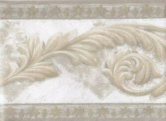 Interior Place   Gold Silver White Aged Stone Molding Wallpaper Border