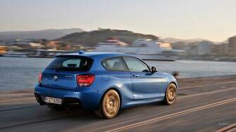 Blue Volkswagen 3 door hatchback BMW 1M blue cars HD wallpaper