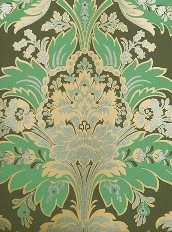 Aldwych Damask Wallpaper Rich Damask Wallpaper in a wonderful deep