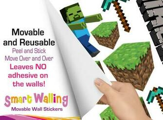 Minecraft Room Stickers for Pinterest