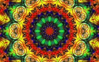 Hippie psychedelic wallpaper