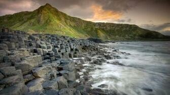 Giants Causeway in Ireland awesome landscape 1920x1080