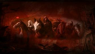 Four Horsemen Of The Apocalypse Wallpaper Horsemen of the apocalypse