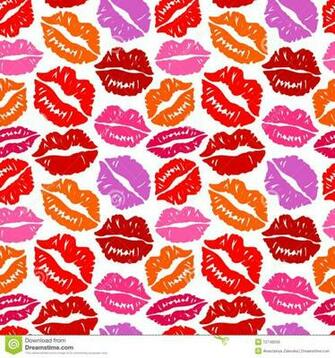 Kisses Seamless Background Illustration 12748558   Megapixl