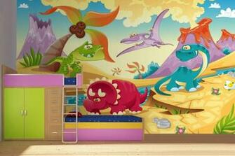 Dinosaur Bedroom Wallpaper Dinosaur Childrens Wallpaper