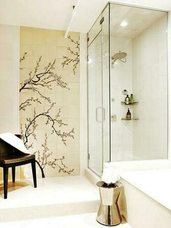 Asian Inspired Wallpaper and Murals in Bathroom Decor