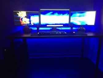 Finished my new triple monitor setup dbz