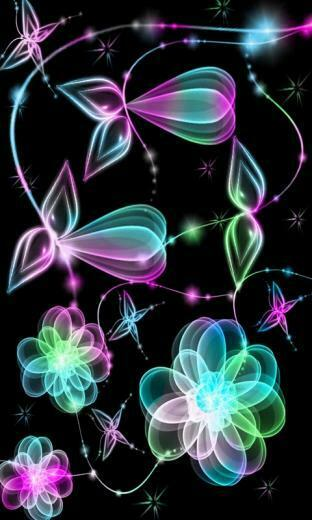 Glow Flowers Cell Phone Wallpapers 480x800 Mobile Phone Pictures