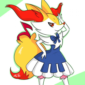 Braixen piano dress by AngGrc