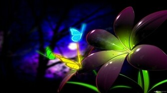 Neon Butterflies wallpaper background