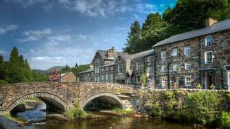 Man Made   Beddgelert Wales Beddgelert Bridge Wallpaper