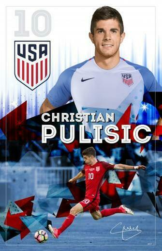 Christian Pulisic Soccer Poster by TAYLOR BUCK CREATIVE