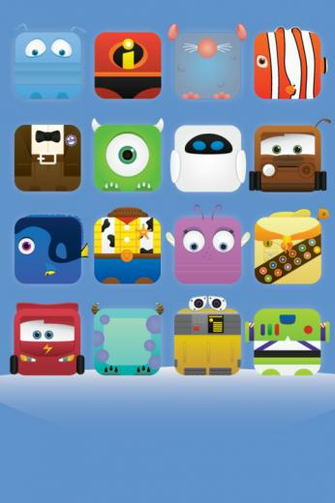 MOVIELICIOUS   Pixar Theme iPhone Icon Wallpaper by Jess Fong