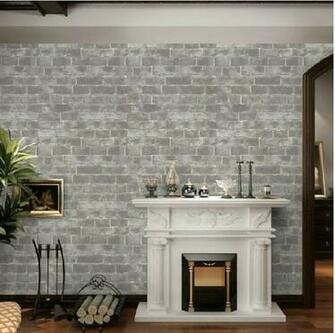 Vintage 3d wallpaper roll background wall wallpaper brick Tan Vinyl
