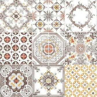 Pattern Retro Floral Motif Kitchen Bathroom Vinyl Wallpaper J95605