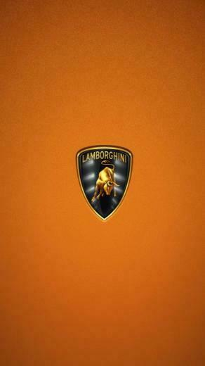 Lamborghini Logo HD Orange Wallpaper iPhone Wallpaper iPhone 5