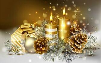 page daccueil ftes Fonds dcran HD bougies de Nol fonds d