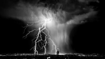 Lightning Black And White wallpaper   889318