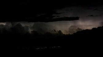 Distant Thunderstorm Wallpaper