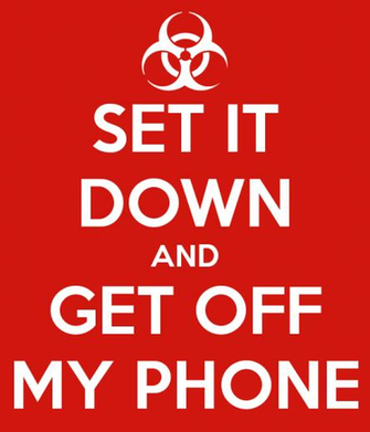 SET IT DOWN AND GET OFF MY PHONE Poster Gavin Keep Calm o Matic