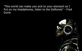 headphones quotes deftones fred durst HD Wallpaper   General 870203