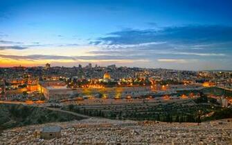 Wallpapers Israel Jerusalem HDRI Sky night time Cities 3840x2400