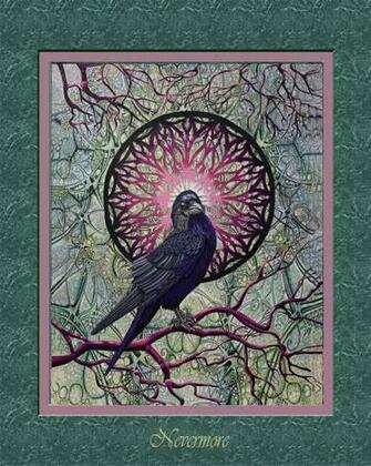 Nevermore Raven raven n mandala complex background raven n Etsy