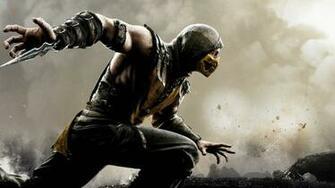 HD Background Mortal Kombat X Scorpion Wallpaper WallpapersByte