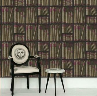 Cole and Son Fornasetti Ex Libris Book Wallpaper Hirshfields Color