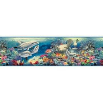 Manatee Ocean Encounter Wallpaper Border   All 4 Walls Wallpaper