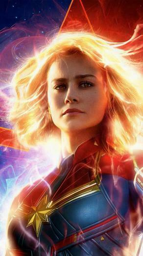 Brie Larson In As Captain Marvel 2019 Movie Wallpapers