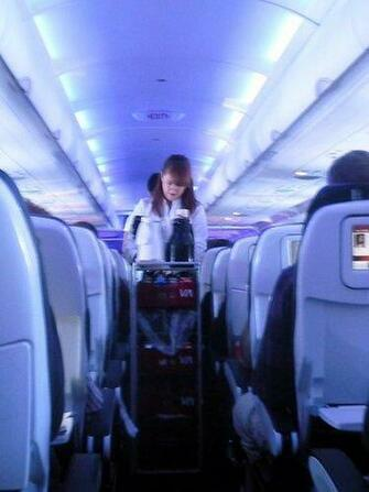 America US In flight Virgin America flight attendant