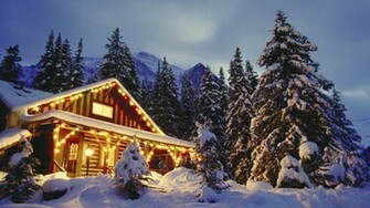 Decorated cabin wallpaper   734621