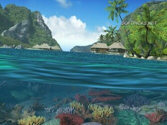 Caribbean Islands 3D Screensaver and Animated Wallpaper captura de