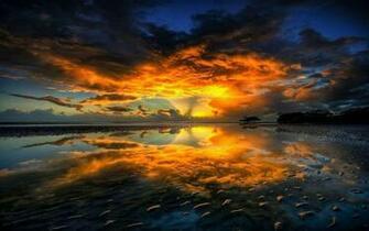 Sunset on the River Hd Desktop Wallpaper